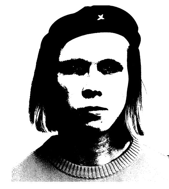 Picture of me manipulated to look like Che Guevara